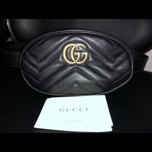 Gucci - Marmont Quilted Leather Belt Bag - Black
